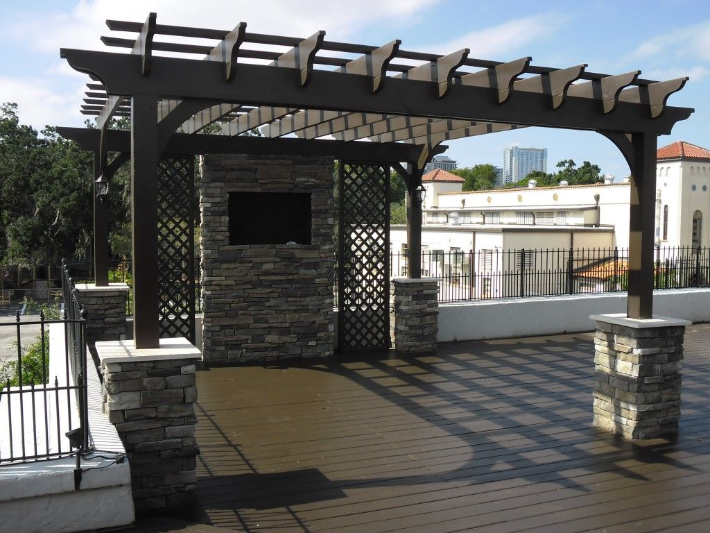 contemporary concept of pergola roof covering design idea