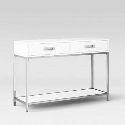 Ronchamp Console Table Chrome White Project 62