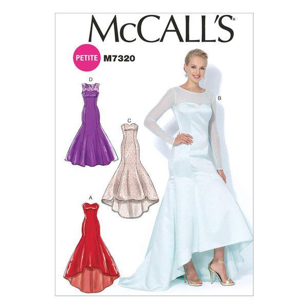 Mccall S Pattern M7320 Misses Miss Petite Mermaid Hem High Low Dresses High Low Evening Dresses Gown Sewing Pattern Wedding Dress Patterns