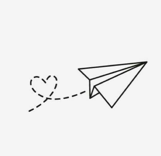 Pin de vickens 07 en tattoos mini aviones de papel - Papel para dibujar ...
