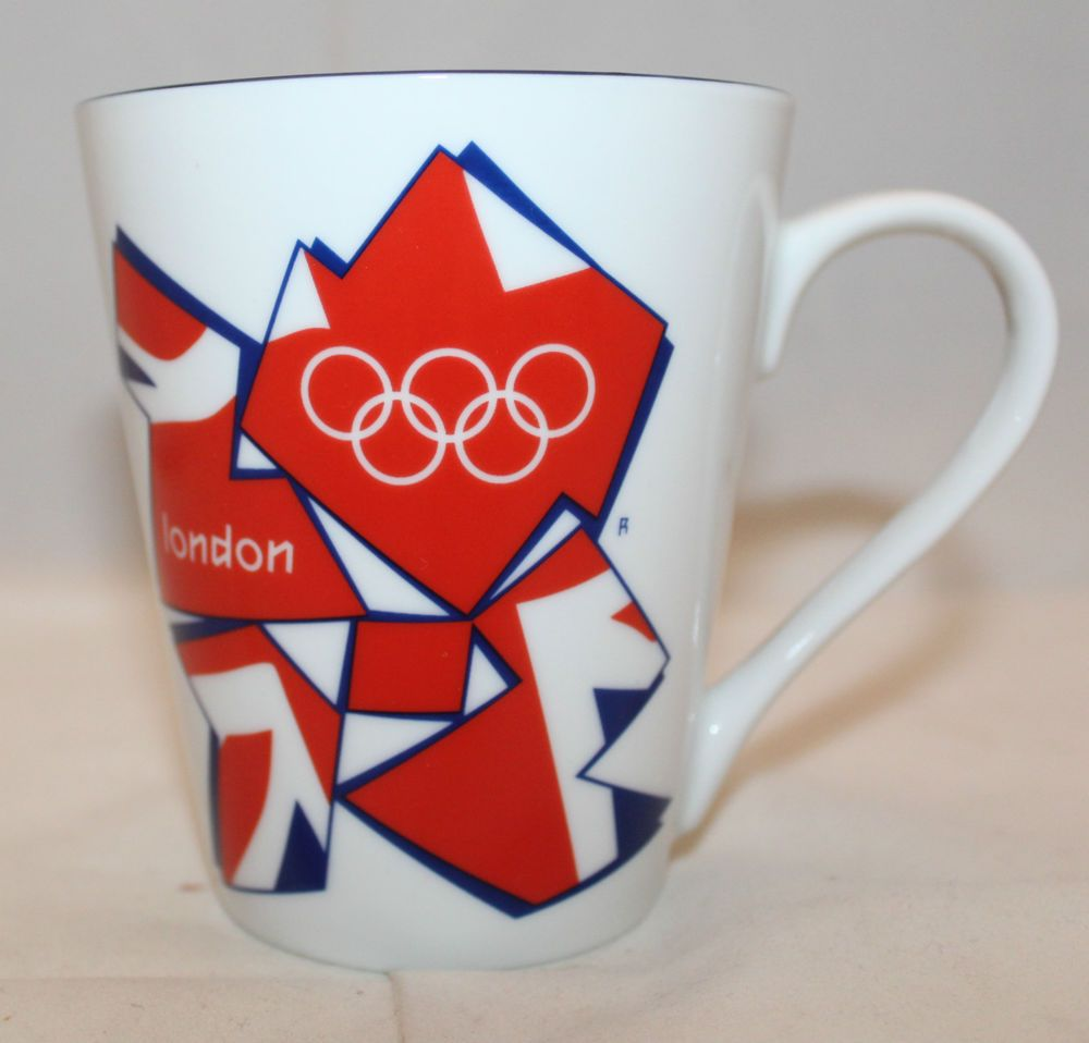 Official London Olympic 2012 White Coffee Tea Mug Cup