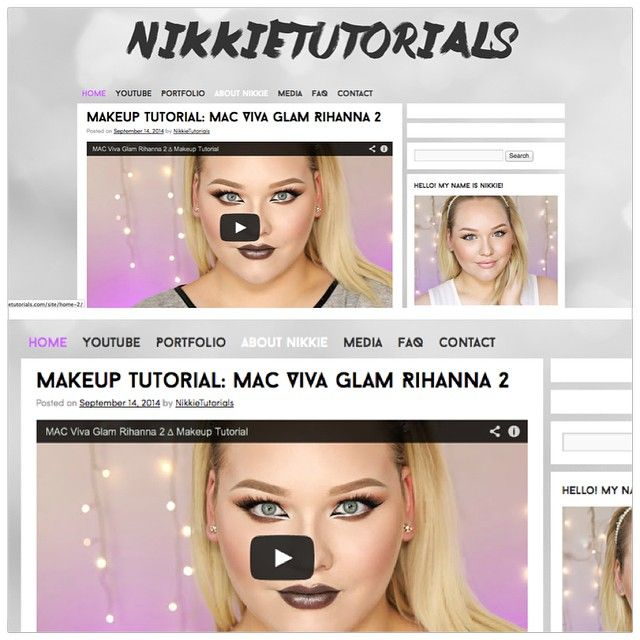The blog »  got a new look!  it was time for something mo...,  Nikkie Tutorial,