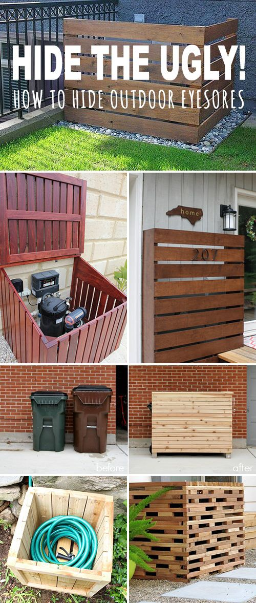 Hide The Ugly How To Hide Outdoor Eyesores Backyard