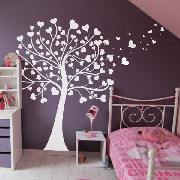 sticker arbre coeurs chambre b b pinterest coeur arbres blancs et chambres. Black Bedroom Furniture Sets. Home Design Ideas