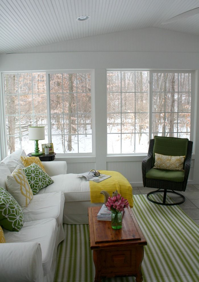 The View From My Sunroom On A Snowy Winter Day Sunroom Furniture