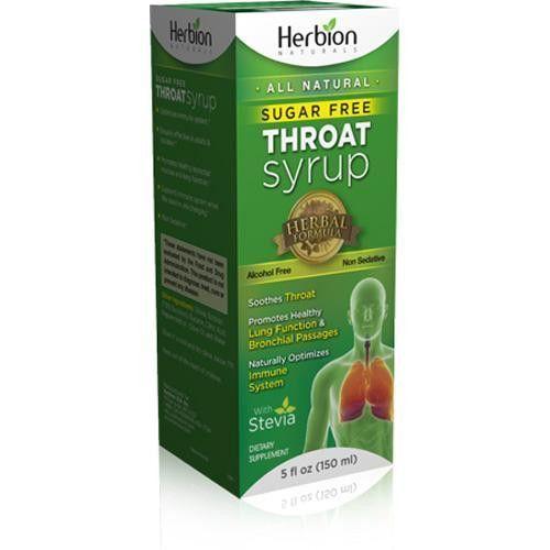 Herbion Naturals Throat Syrup All Natural Sugar Free 5 Oz