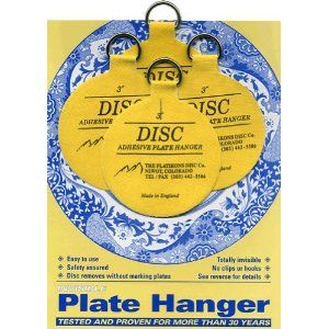 Easy decorating with plates! Invisible English Disc Adhesive Medium Plate Hanger Set - 3 Inch Hangers) The Flatirons Disc Co  sc 1 st  Pinterest & Best invention EVER for hanging plates on the wall!!! No more ...