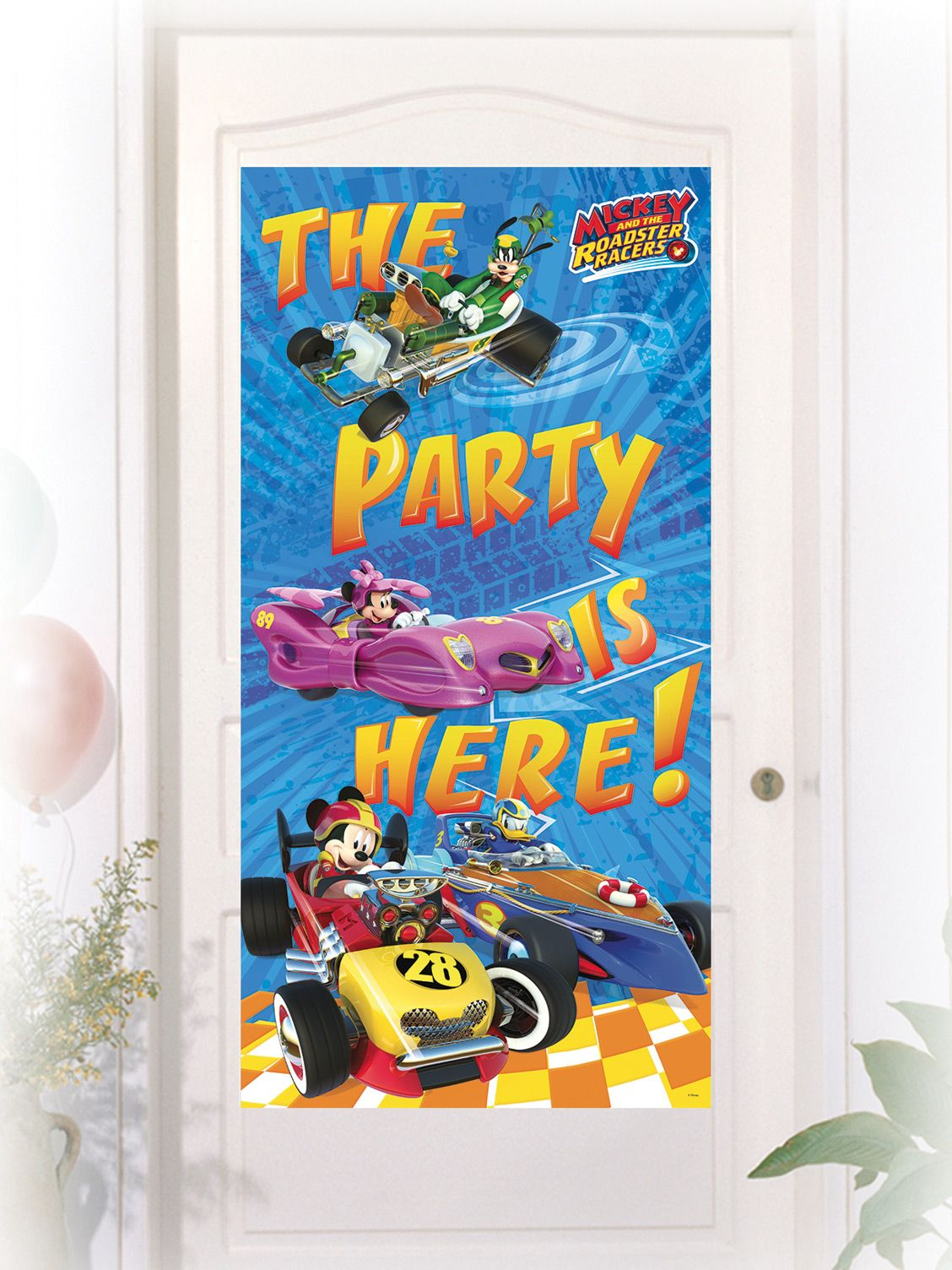 Mickey Mouse racing door decoration on VegaooParty, shop …