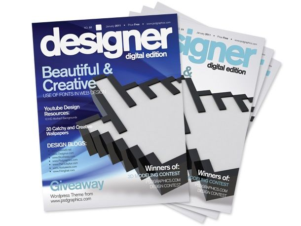 30 Best Magazine Cover Page Designs Psd Templates Print