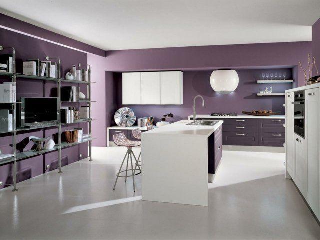 125 exemples de cuisines quip es ultra modernes partie - Cuisine equipee violet ...