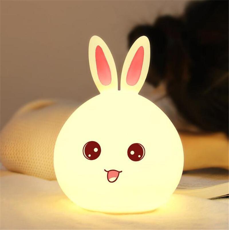 Rabbit Led Night Light For Children Baby Kids Bedside Lamp Night