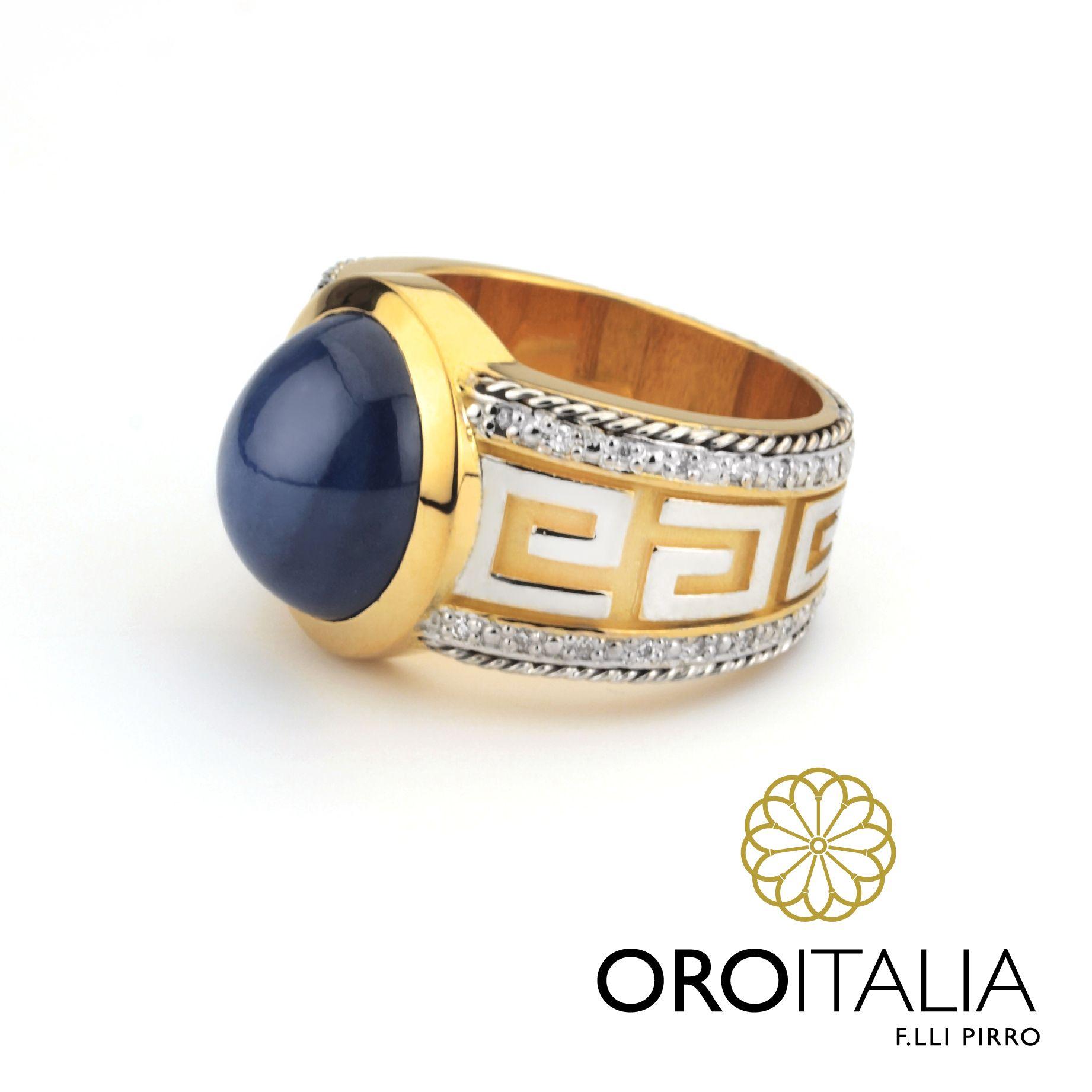 9260fd400c04 Anillo de zafiro estrella y diamantes en oro blanco y amarillo de 18kt  confeccionado para un cliente por pedido especial. Para más información  sobre nuestro ...