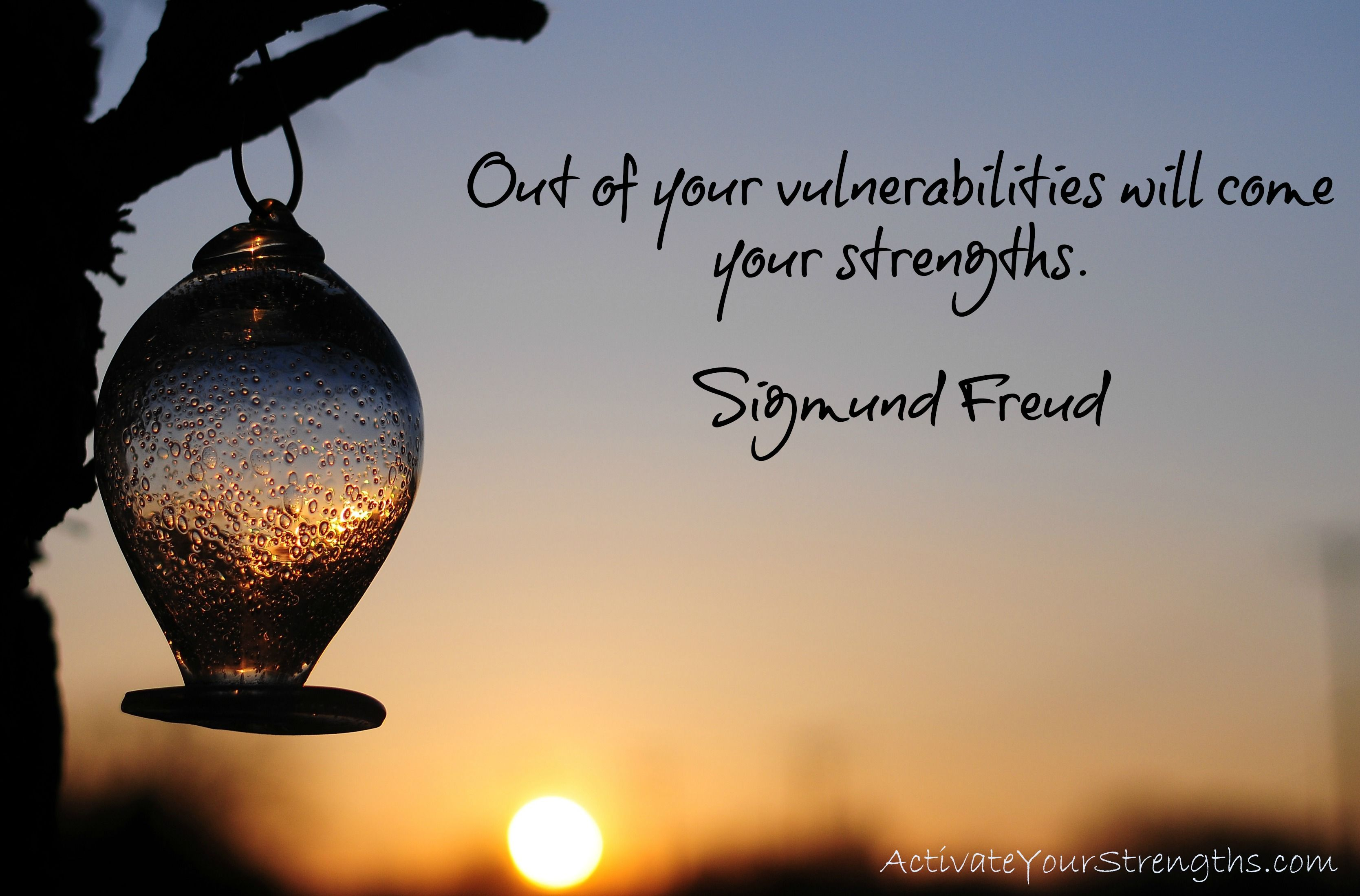 Being vulnerable... It's the way to live in your #Strengths!  www.ActivateYourStrengths.com