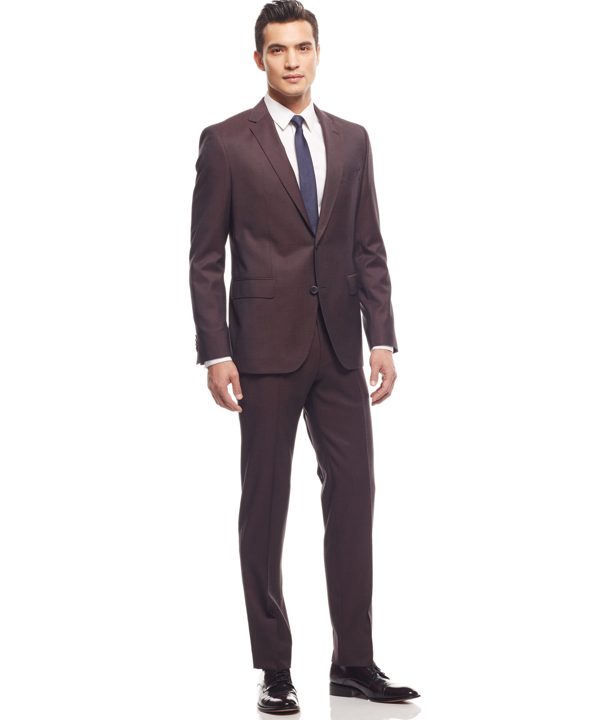 BOSS by Hugo Boss Burgundy Suit - Suits & Tuxedos - Men - Macy's
