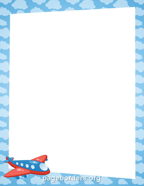 Airplane Border Borders And Frames Page Borders Clip Art Borders