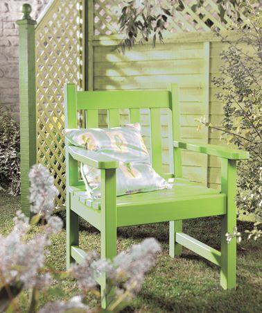 Repeindre son mobilier de jardin avec de belles couleurs ...