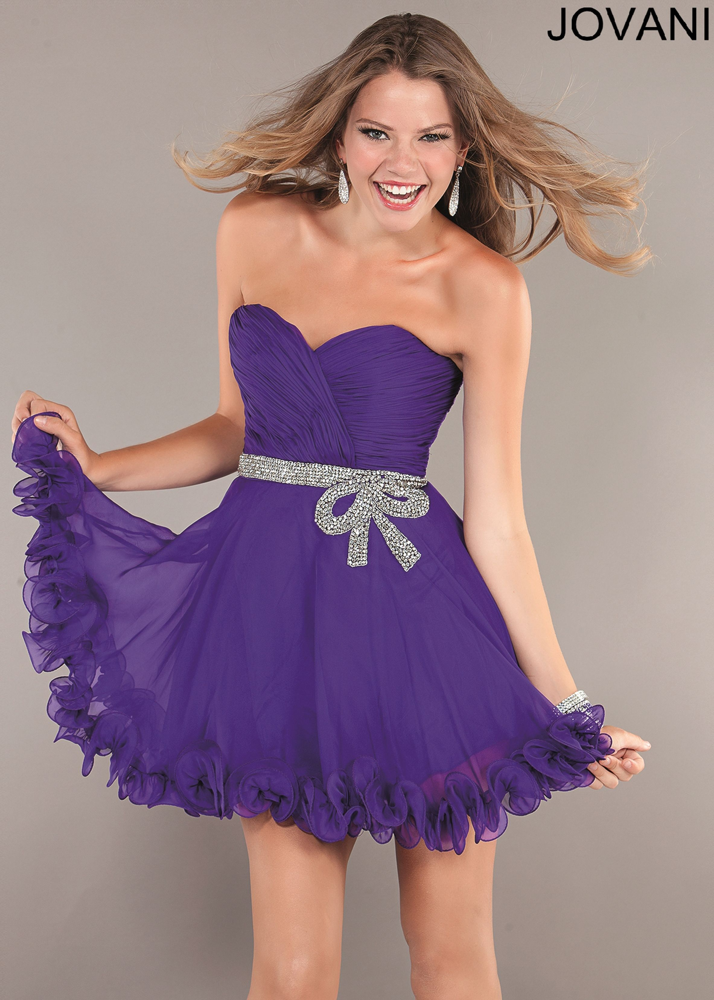 Shop here Jovani 72702 purple beaded cocktail prom dresses available ...
