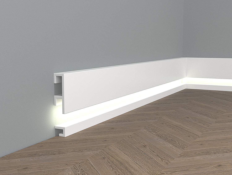 Topseller Mardom Decor Ql019 Ql021 Lichtleisten Fussleisten I Sockelleisten Fur Indirekte Led Beleuchtung I 200 Fussleisten Sockelleisten Led Beleuchtung