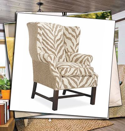 make a statement and remain neutral with these comfortably elegent animal print wing chairs