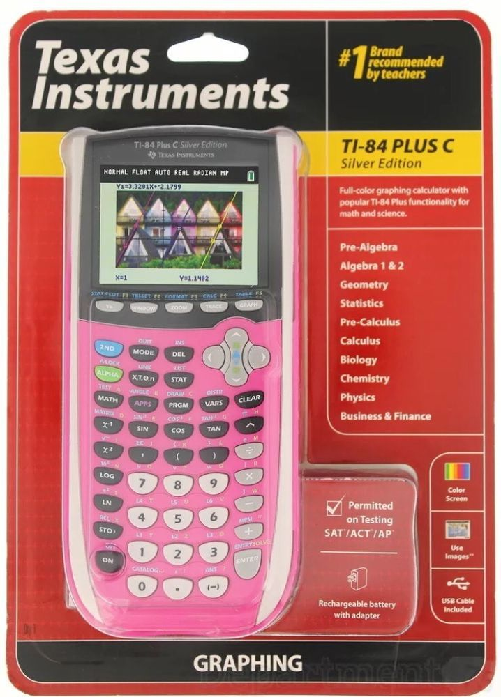 Texas Instruments TI84 Plus C Silver Edition New Graphing