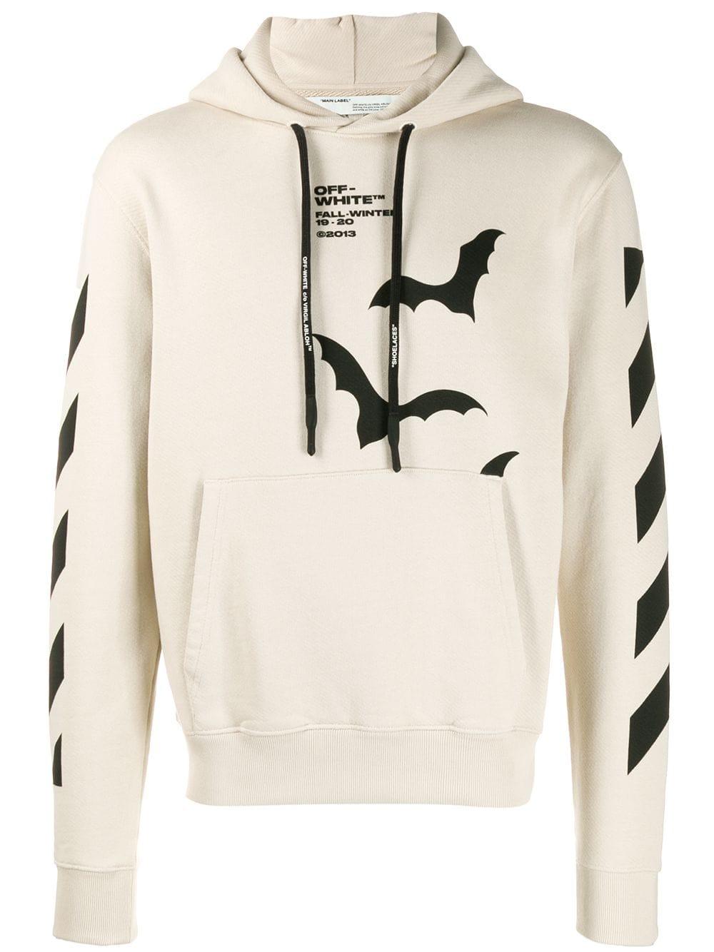 Off White Off White Bat Print Hoodie Neutrals Off White Cloth Hoodie Print Hoodies Trendy Hoodies [ 1334 x 1000 Pixel ]