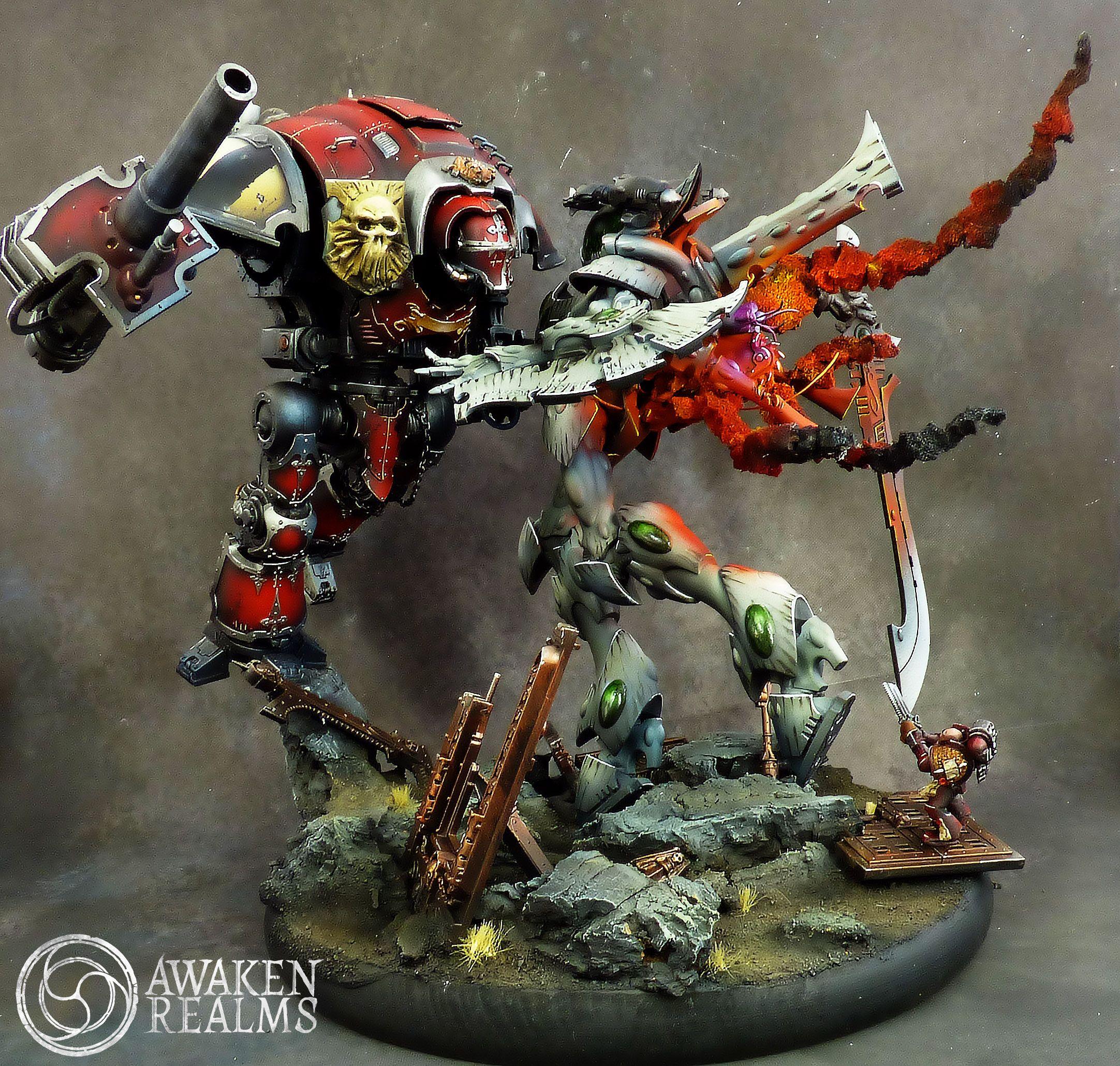 Dawn Of War Iii Diorama Imperial Knight Vs Wraithknight
