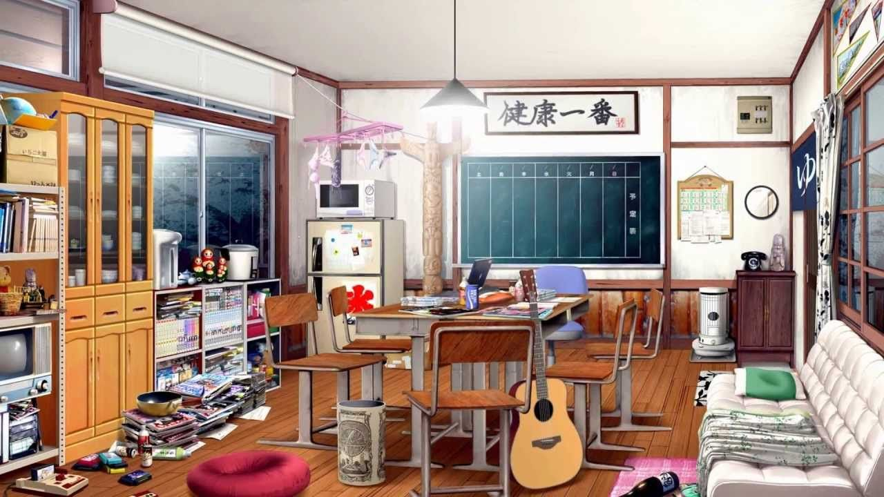 One of the club rooms Anime scenery, Fantasy art