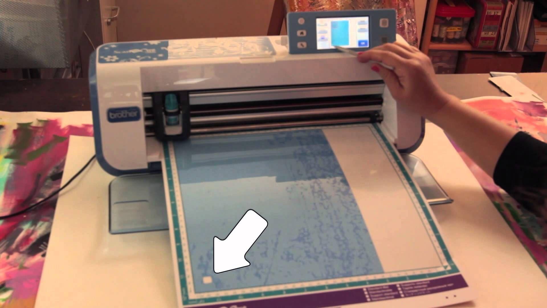 Scanncut Cutting A Plastic Stencil Scan N Cut Scan N