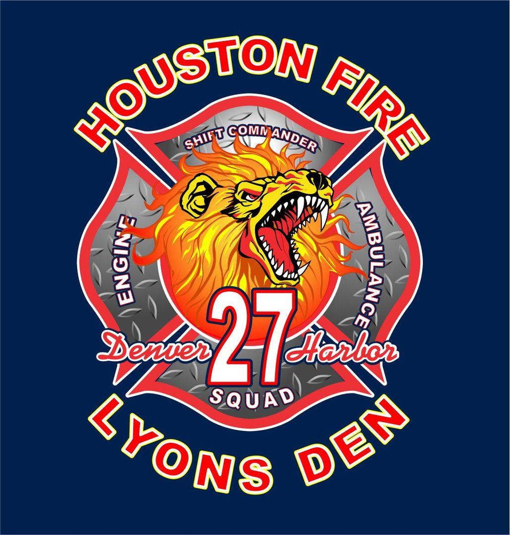 HOUSTON FIRE DEPT. station 27 Ems patch, Firefighter