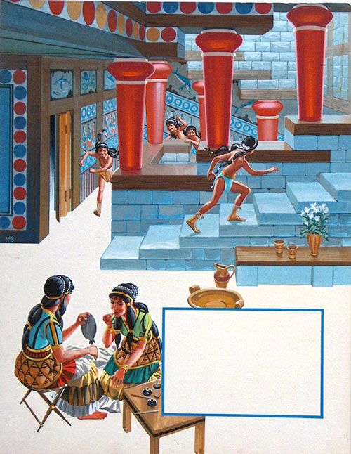 The Palace Of Minos By Angus Mcbride Minoan Art Minoan Greek History