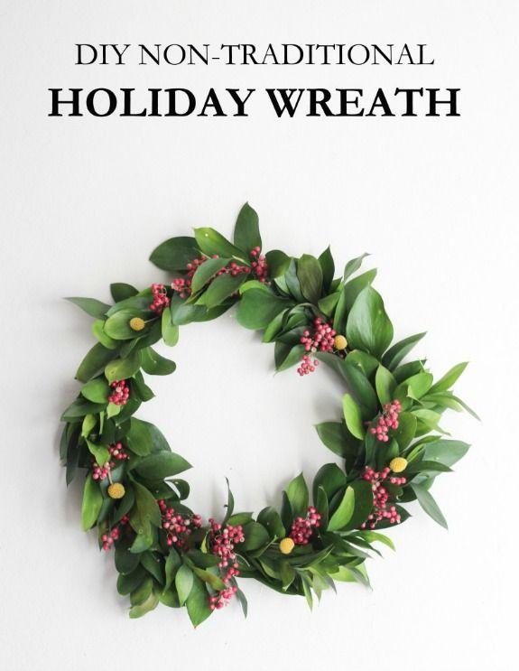 easy christmas wreath 100 days of homemade holiday inspiration on hoosierhomemadecom - Simple Christmas Wreaths