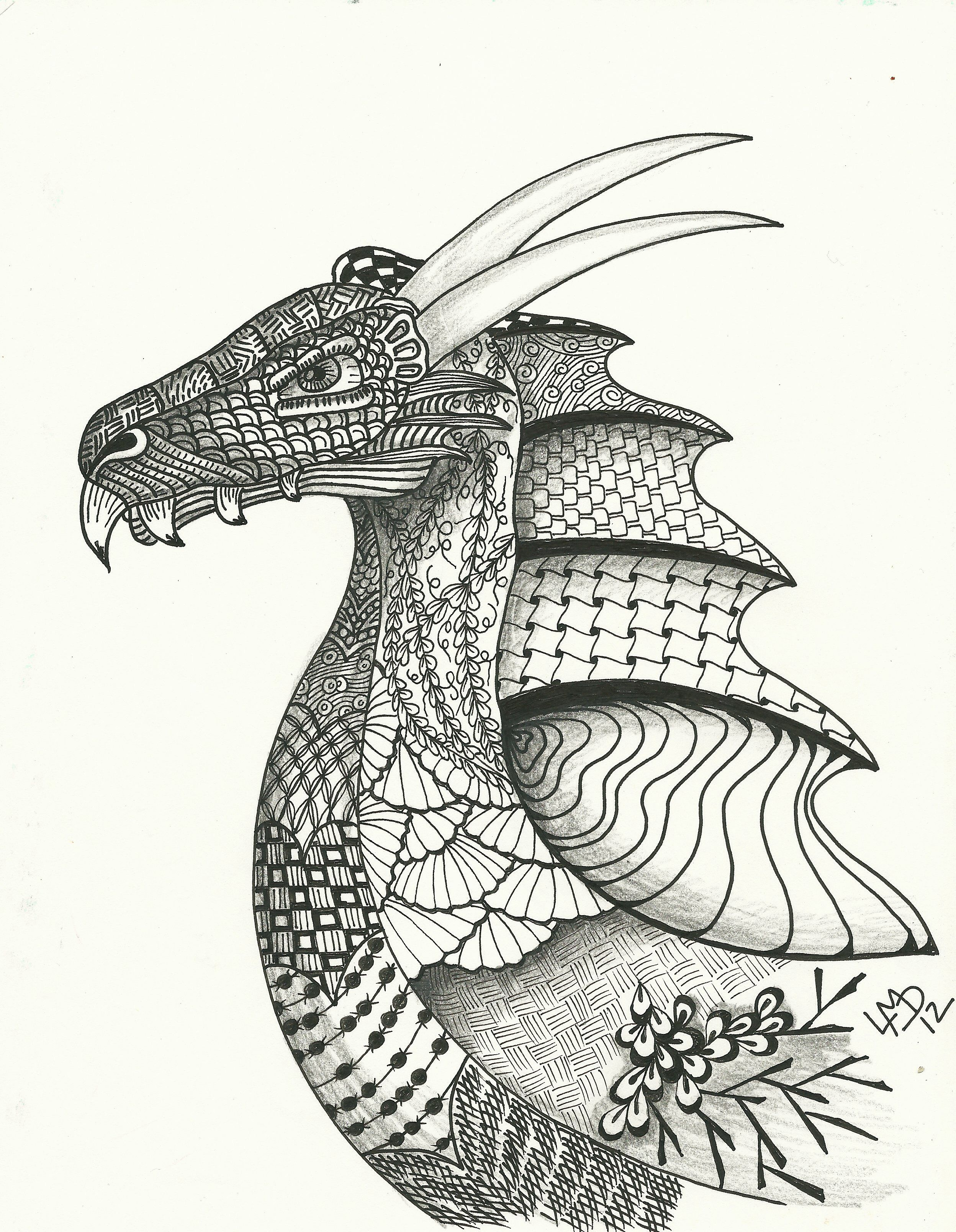 10+ Sharpie dragon coloring pages trends