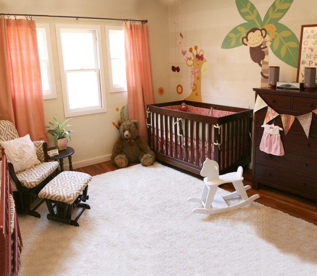 Liv's Baby Animal Nursery Jungle theme nursery, Girl