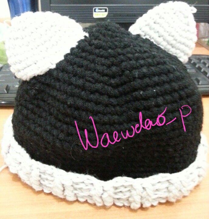 Cat ears hat crochet^_^