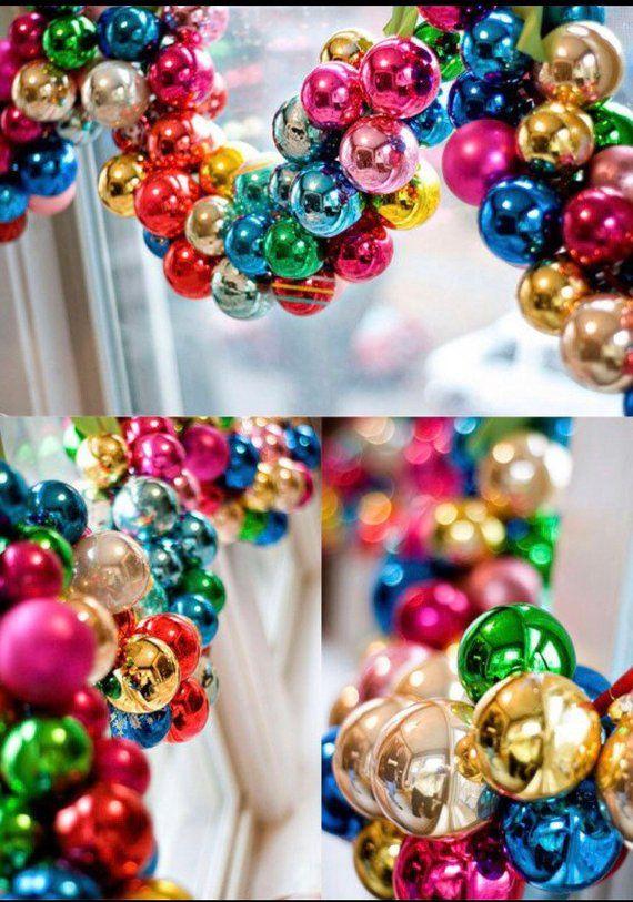 9 foot Rainbow Shatterproof Christmas Ornament Garland