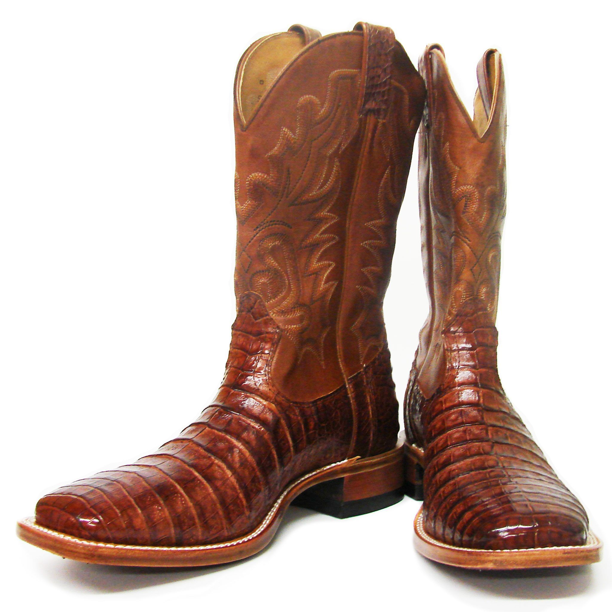 c3b23cf8844 Boulet Men's Peanut Caiman Belly Wide Square Toe Boots | Products ...