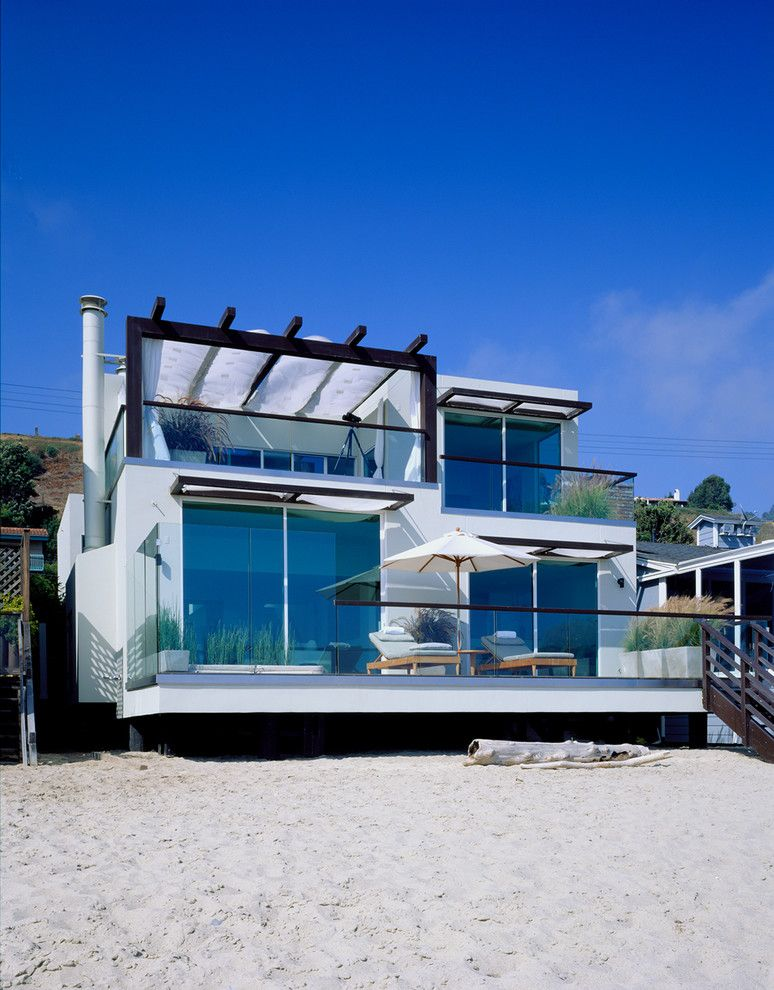 wonderful beach themed house ideas in exterior design with angular balcony contemporary