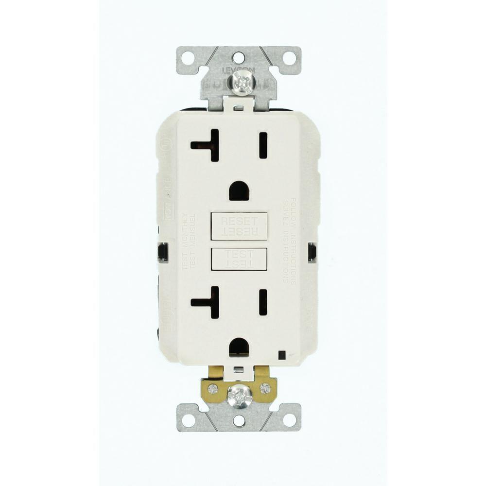 20 amp lev lok modular wiring device smartlockpro industrial grade gfci receptacle white [ 1000 x 1000 Pixel ]