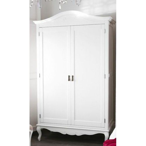 Juliette French White Painted Double Wardrobe