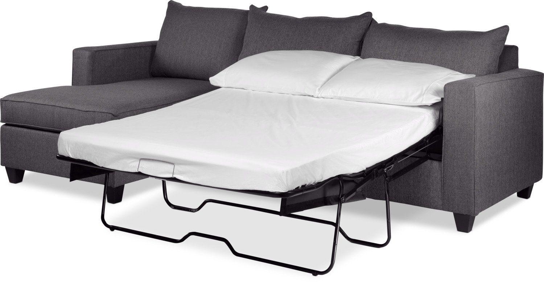 Awe Inspiring Halley 2 Piece Full Sofa Bed Sectional With Left Facing Inzonedesignstudio Interior Chair Design Inzonedesignstudiocom