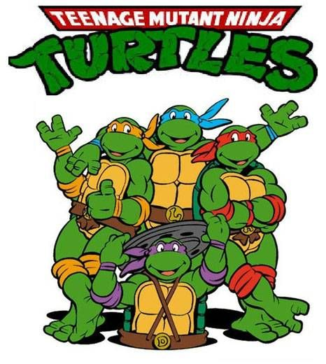"Teenage Mutant Ninja Turtles Iron On Transfer for LIGHT Fabric 5x5.25/"" 5.75x5.2/"""
