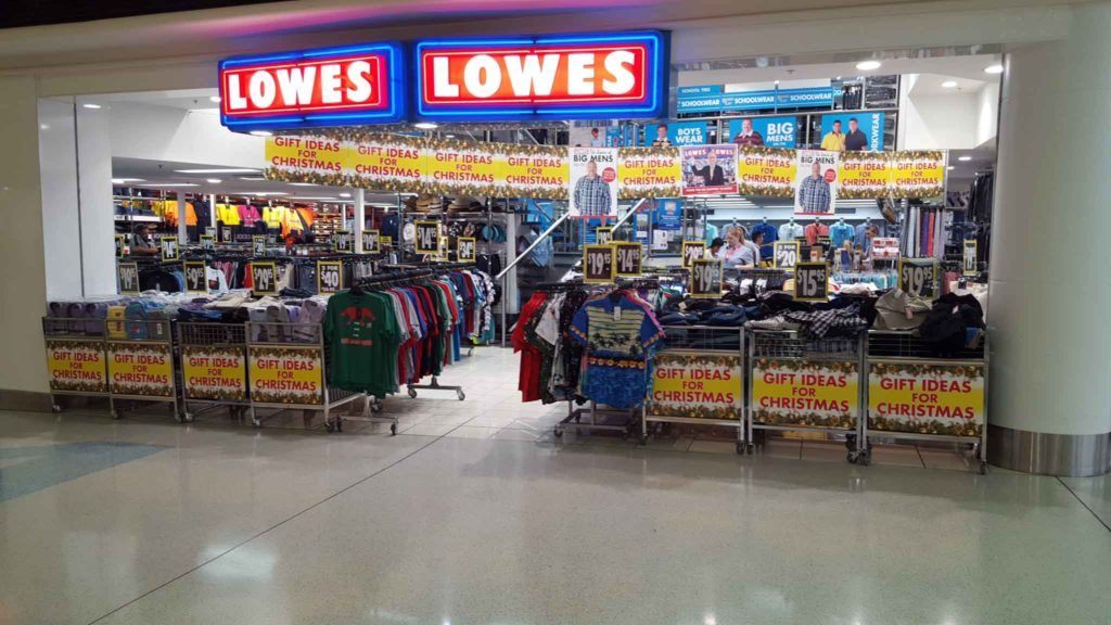 Lowes Visual Merchandising Of Their Shopfront At Westfield