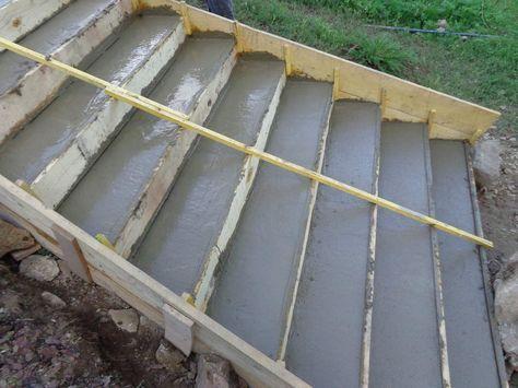 Extérieurs - escalier jardin Pinterest Concrete slab patio - Couler Une Terrasse En Beton