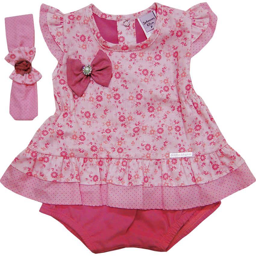 e3ecdd8be Banho de Sol de Bebê Feminino com Faixa Rosa - Sonho Mágico :: 764 Kids    Roupa bebê e infantil