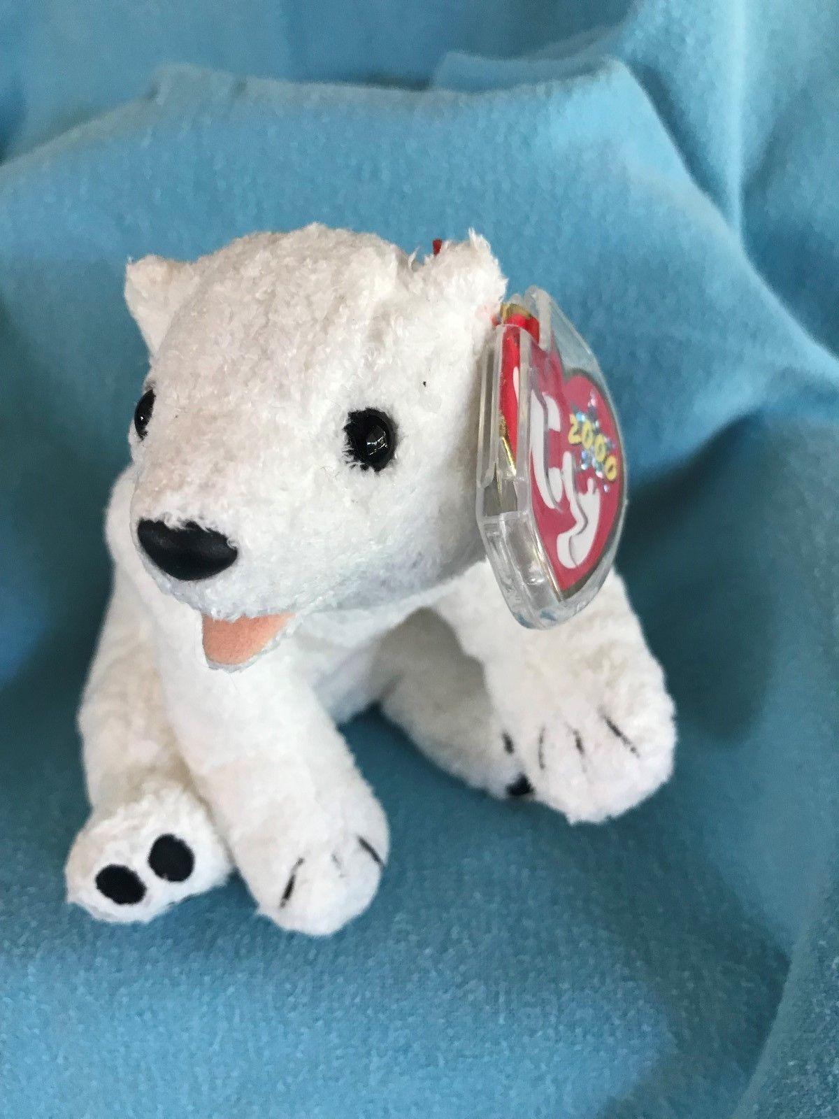 Mint! TY Beanie Baby AURORA the Polar Bear Plush Stuffed Animal 2 3 ... 7ef59d37210e