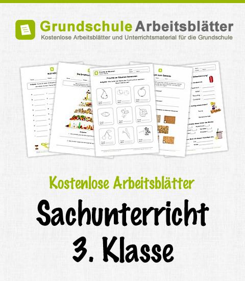 Kostenlose Arbeitsblätter und Unterrichtsmaterial für den Sachunterricht in der 3. Klasse in der Grundschule.