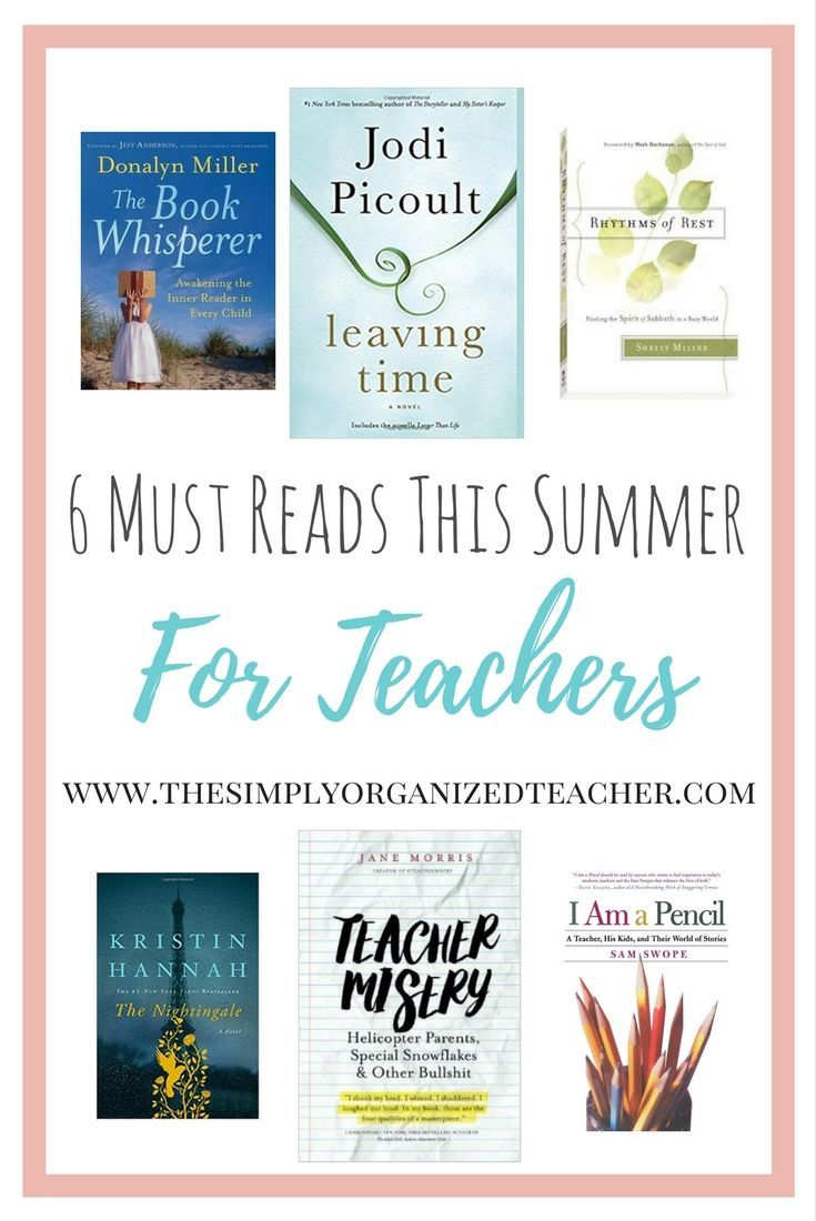 Photo of Summer Book Reads for Teachers · The Simply Organized Teacher
