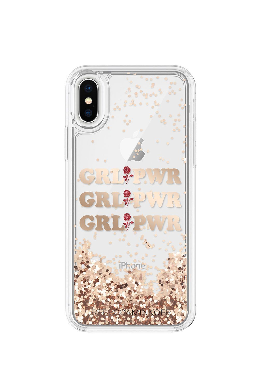54367bc99d9 GRL PWR Glitterfall Case For iPhone X