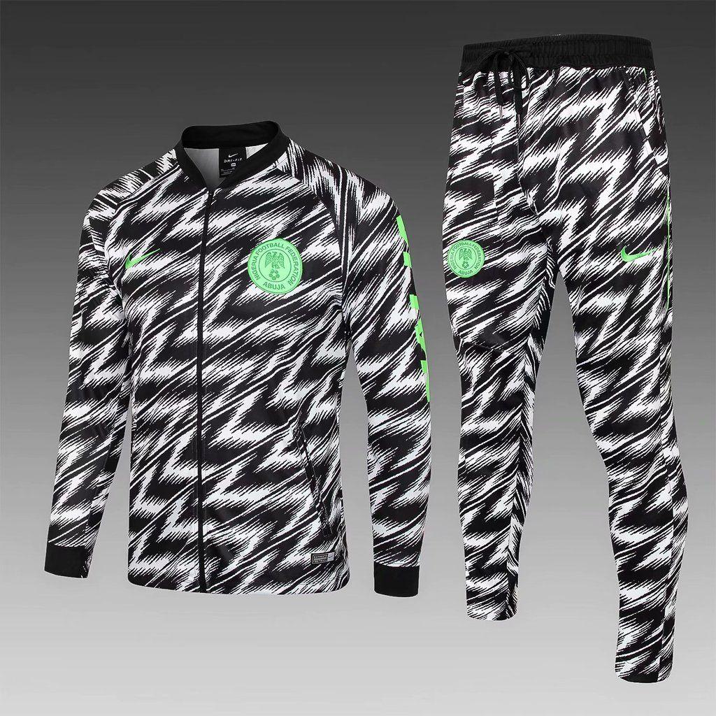 Nigeria 18 19 Leopard Print Black Men Jacket Tracksuit Slim Fit c37ccb5a6