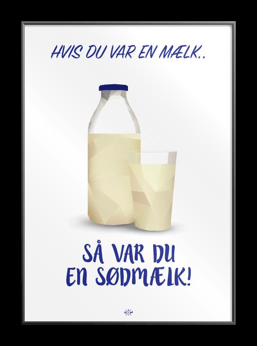Hvis du var en mælk - Hipd.dk - sjove jokes og ordspil på plakater